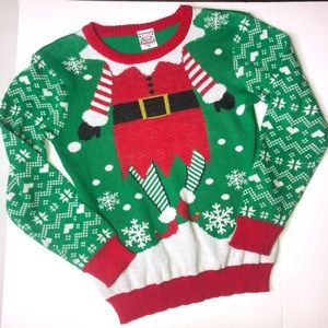 Christmas elf sweater juniors size xl